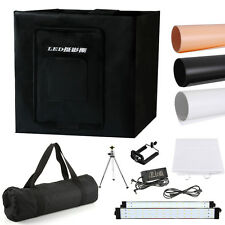 "60cm/24"" Photo Studio Photography LED Light Tent Backdrop Kit Cube Lighting Box"