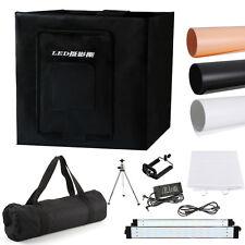 """60cm/24"""" Photo Studio Photography LED Light Tent Backdrop Kit Cube Lighting Box"""