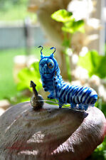 Alice in Wonderland Caterpillar miniature resin sculpture by Jennifer sutherland