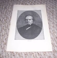 1899 Print Portrait Henry Clay Kentucky Senator Speaker of House War Hawk