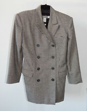 JIL SANDER 60s Style Black and White Houndstooth Jacket Blazer sz - 36
