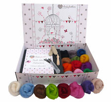 Premium Boxed Heidifeathers® Needle Felting Kit - Handle, Finger Guards, Eyes..