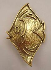 Vtg Coro Angel Tropical Fish Yellow Regal Tang Finding Nemo Pin Brooch NICE