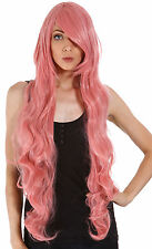Women Lady Long Hair Wig Curly Wavy Synthetic Anime Cosplay Party Full Wigs 40""