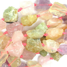 "20-25mm citrine rose quartz amethyst prehnite nugget beads 16"" strand"