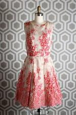 NWT Alice & Olivia Fila Dress 10 $595 Red Natural Floral Lace