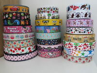 Printed Grosgrain Ribbon Dummy Hair Clips Cake Craft Hair Bow 1 Meter 22/25mm