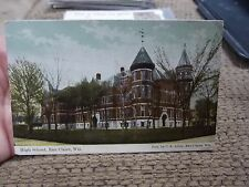 HIGH SCHOOL EAU CLAIRE  WISCONSIN WI  WIS POSTCARD POST CARD