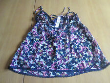 Marks & Spencer sexy blue flower print see through camisole top size 12