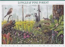 EE. UU. FB 3470 - 3579 ** diapositivas hoja longleaf Pine Forest, animales, correos frescos, mnh