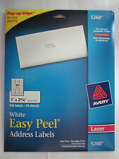 "Avery Easy Peel Address Label - 1"" 2.62"" Length Permanent 750 labels 25 sheets"