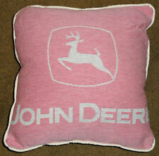 John Deere Logo Pink For Her Tapestry Square Pillow