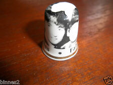 THE BEATLES BONE CHINA COLLECTORS THIMBLE BRAND NEW  MADE IN ENGLAND BLACK WHITE