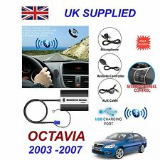 For SKODA OCTAVIA Bluetooth Hands Free Phone AUX Input MP3 1A USB Charger Module