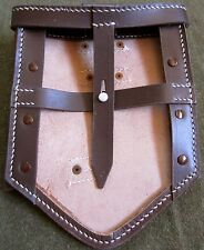 WWII GERMAN M31 FOLDING SHOVEL CARRY COVER-BROWN LEATHER