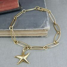 Tiffany & Co. Elsa Peretti 18K Yellow Gold Starfish Charm Bracelet