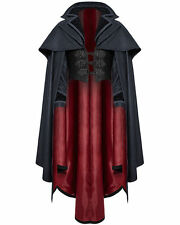 Punk Rave Mens Cloak Coat Jacket Red Black Gothic Steampunk Aristocrat Vampire