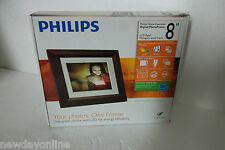 "Philips 8"" Digital Photo Frame 800x600 On/Off Alarm CF SD 128MB 4:3 SPF3482 NEW"