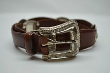 Fossil Boho South Western Brown Casual Leather Belt Large 33 34
