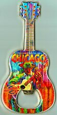 "Hard Rock Cafe CHICAGO ""Bluesman"" V7 Guitar MAGNET Bottle Opener - VERY RARE"