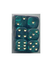 Dice Set of 6 D6 (16mm) - Pearl Green