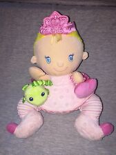 Fisher Price Princess Fairy Plush Rattle,Crinkle Wings,Squeak toy Pink