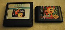 Pac-Man Atari 5200 Ms. Pac-Man Sega Genesis 1982 Vintage Video Game 2 Pair