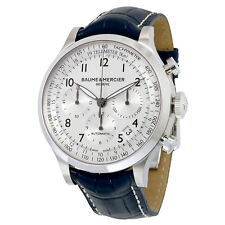 Baume and Mercier Capeland Chronograph Blue Leather Mens Watch MOA10063