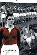 Signed Bill Foulkes Manchester United Autograph Photo Montage + Proof