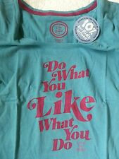 Life is Good Do What You Like Creamy Tee Women's Size M New with Tags
