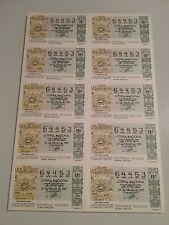 Billete entero Lotería Nacional sorteo 9/87 (28 febrero) CIUDAD MINERA COLONIAL