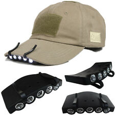 5 LED Bright Fishing Camping Hiking Head Light Under the Brim Cap / Hat Headlamp