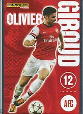 MOTD-POSTER 2013/14-FRANCE & ARSENAL-MONTPELLIER-TOURS-GRENOBLE-OLIVIER GIROUD