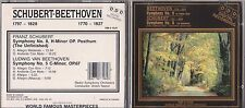 Beethoven Schubert - Symphony No. 5 / No. 8 - New CD - 1211