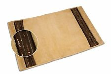 "IBIZA CREAM PLUSH BATH MAT, SOFT LUXURY SHOWER RUG LATEX BACK NON-SLIP, 21""x34"""