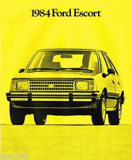 1984 Ford ESCORT Brochure w/ Color Chart: GT, TURBO, LX, GL, L, Wagon, TR