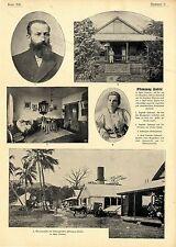Plantagenbesitzer Hufnagel Pflanzung Vailele in Apia auf Samoa verhaftet ...1899