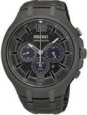 "Seiko SSC453 ""Solar"" Chronograph Date-Display Gray Stainless-Steel Watch"