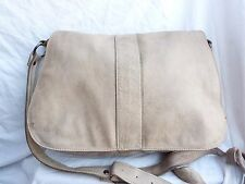 Sac besace ANDRE en cuir taupe messager A4 cartable styl vintage