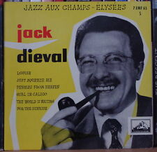"JACK DIEVAL JAZZ AUX CHAMPS-ELYSEES 45t 7"" FRENCH EP"