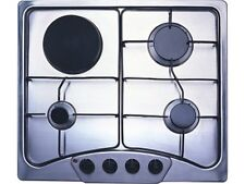 PH-60 60cm Built-in Gas hob 3 burner +1 Electric Hot Plate Cooktop LPG NEW