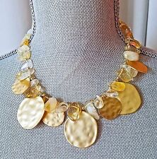 ~New KENNETH JAY LANE KJL Couture Gold Tone Enamel Stone NECKLACE SIGNED