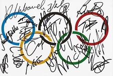ATHLETICS RIO 2016 OLYMPICS SIGNED 12x8 PHOTOx19+COA *SCHIPPERS*FARAH*RUDISHA*