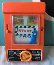 VINTAGE 1976 TOMY DRIVE YOURSELF CRAZY HANDHELD RACING GAME HONG KONG READ