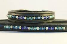 Beaded Leather Collar & Matching Leash Set