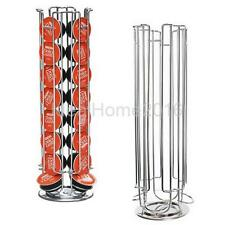 Silver Revolving Rotating 32 Capsule Coffee Pod Holder Stand Rack for Gusto