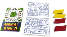 Hip Huggers Magnetic Travel Game Animal Bingo 1994 One Two Players