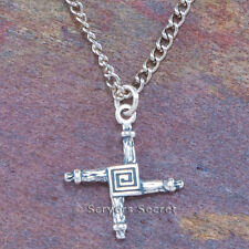 925 sterling silver St. BRIGID'S CROSS Brigit Celtic Charm Pendant & Necklace