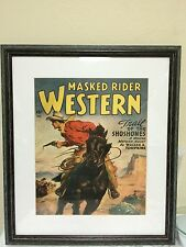 "Mask Rider Western ""Trail of the Shoshones"" Dec. 1949 George Rosen Framed Repro"