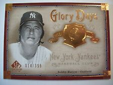 2005 SP LEGENDARY CUTS GLORY BOBBY MURCER GD-MU  YANKEES   BOX # 18
